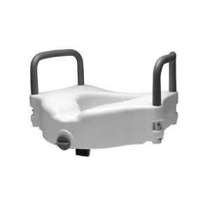 Graham Field Lumex Locking Raised Toilet Seat with Removable Arms