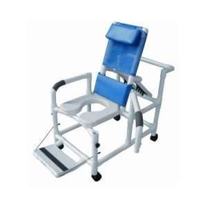20″ PVC Reclining Shower Commode Chair