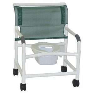 26″ PVC Bariatric Shower Commode Chair