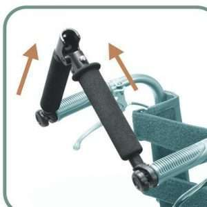 Foldable Rigidifying Wheelchair Push Bars