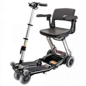 Luggie Deluxe 4-Wheel Folding Travel Scooter