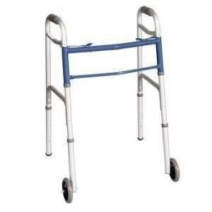 Carex Classics Dual Button Folding Walker