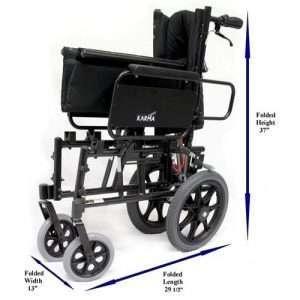 Karman KM-5000 Ultra Light Reclining Transport Chair