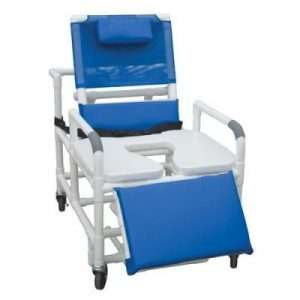 26″-30″ PVC Reclining Shower Commode Chair