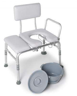Padded Commode Transfer Bench