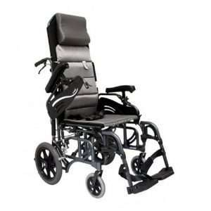 VIP-515-TP Tilt-In-Space Reclining Transport Manual Wheelchair