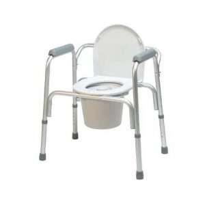 3-in-1 Aluminum Commode with Removable Back Bar