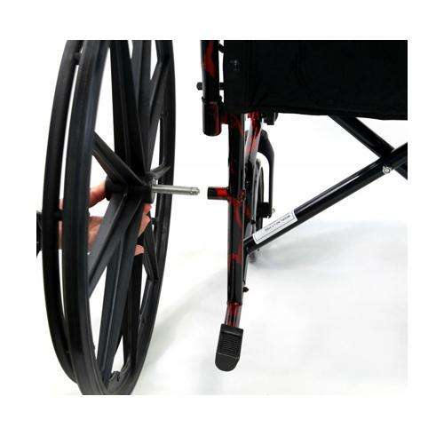 LT-770Q Red Streak Lightweight Manual Wheelchair