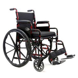 Karman LT-770Q Red Streak Lightweight Manual Wheelchair